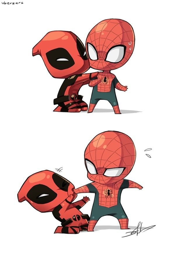 Spiderman clipart chibi Best on this 28 on