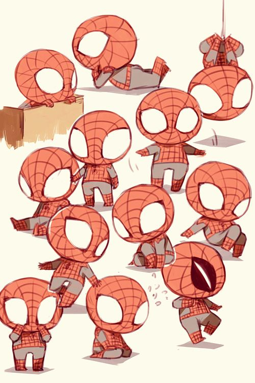 Spiderman clipart chibi Pinterest 174 about on this