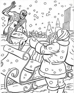 Spiderman clipart christmas Coloring Christmas Pages com Coloring