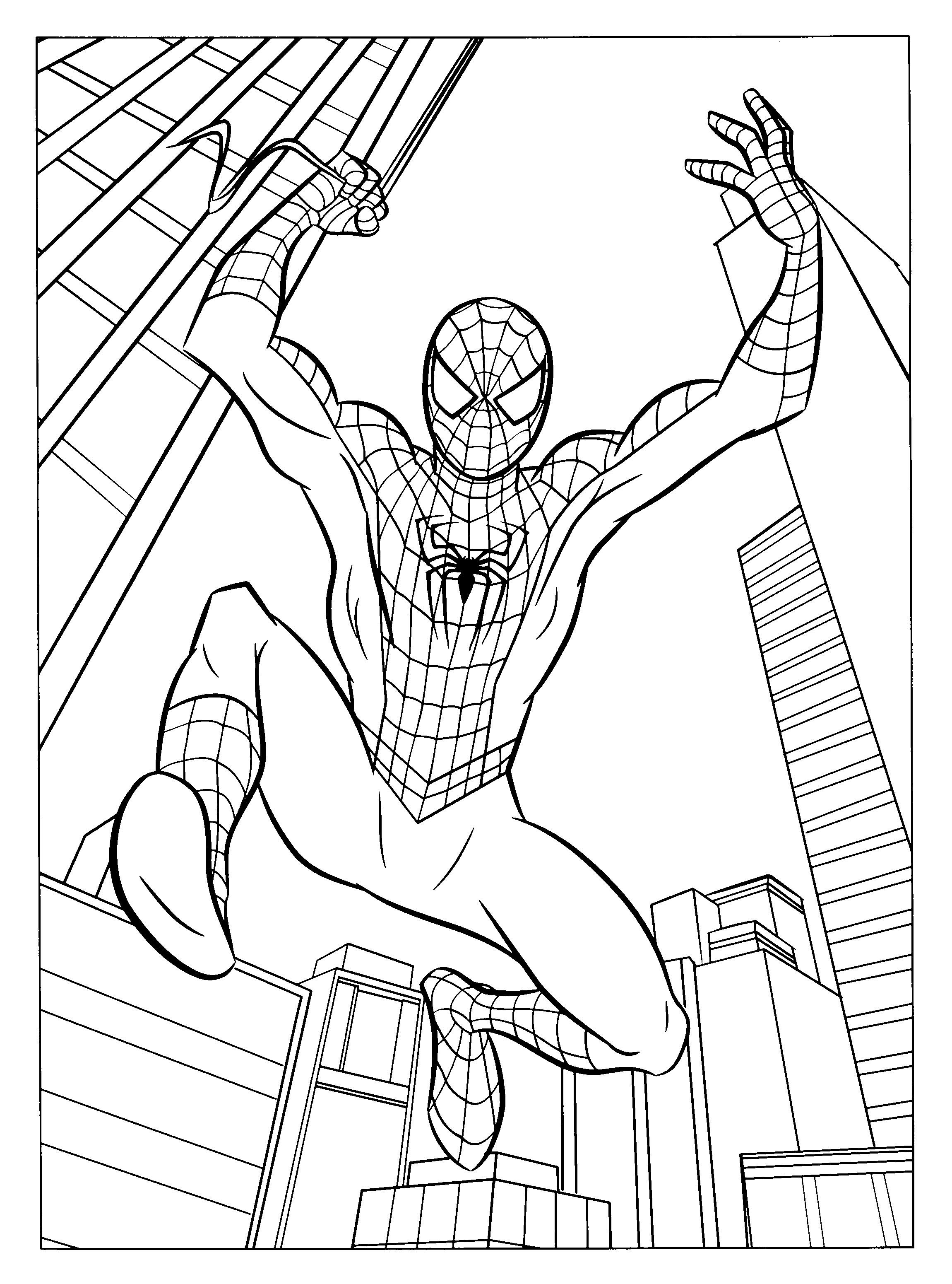 Drawn spider-man coloring book #7