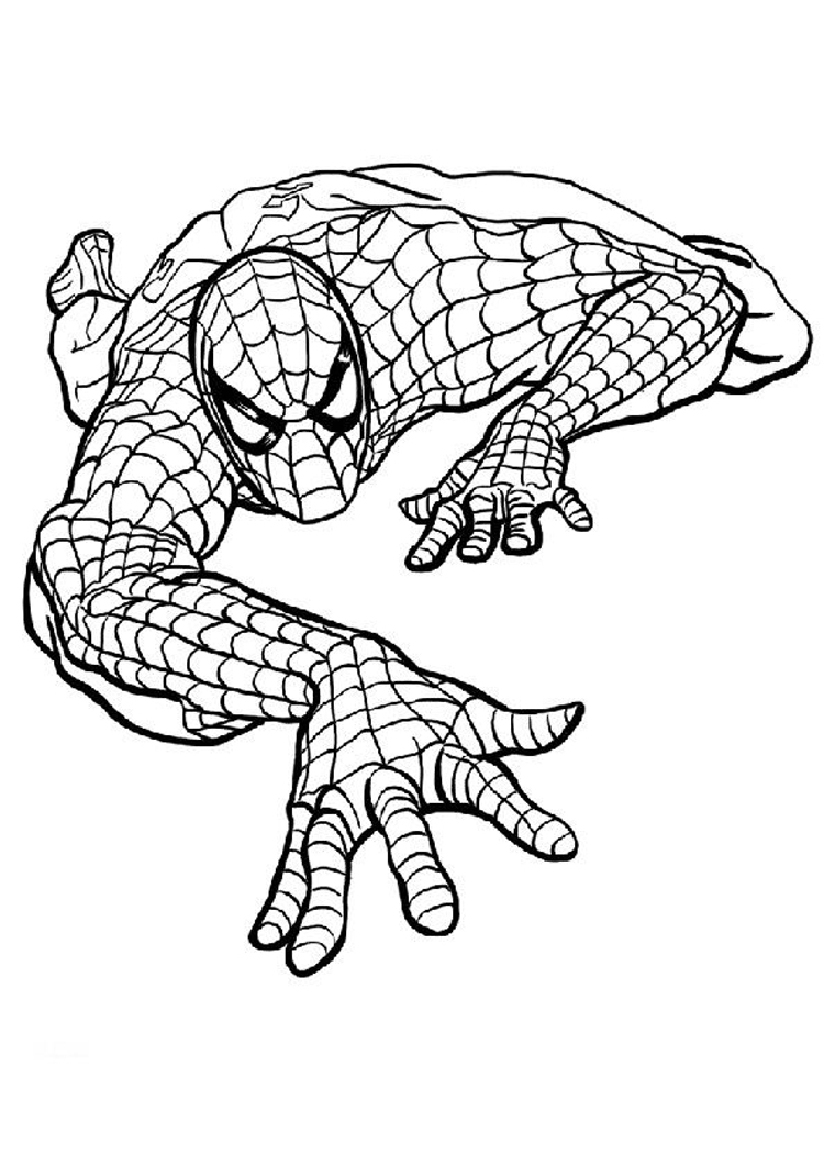 Spiderman clipart coloring Outline Spiderman Clipart With Outline