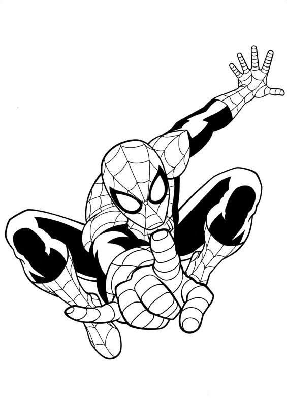 Spiderman clipart coloring sheet Com pages Spiderman coloring coloring