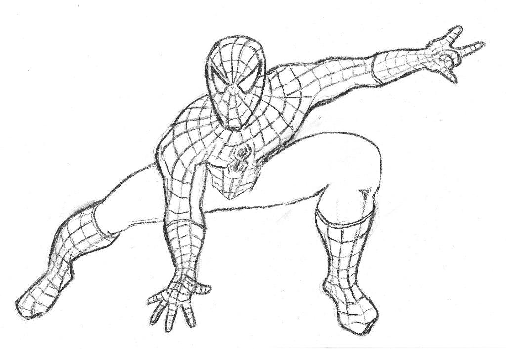 Spiderman clipart coloring Easy creative a way simple