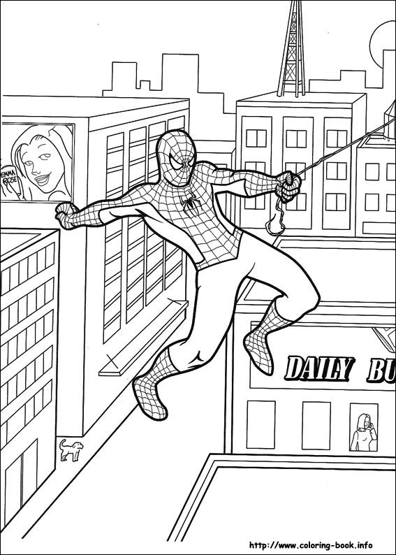 Spiderman clipart coloring sheet Coloring on pages Book