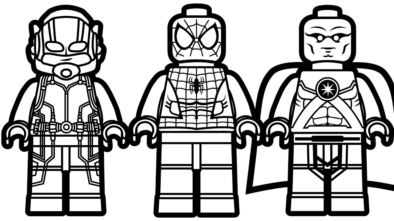 Spiderman clipart coloring sheet Com Man Lego Ant coloringsuite