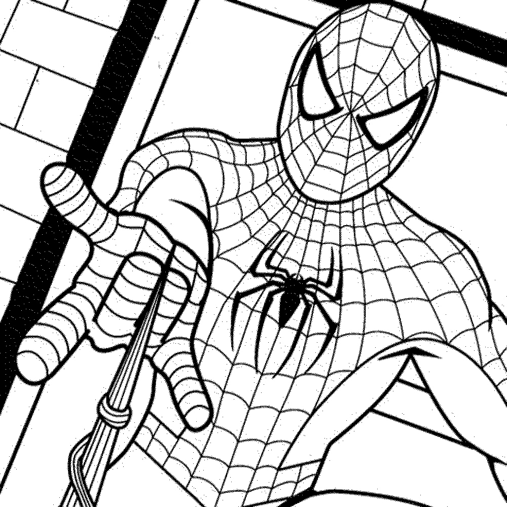 Spiderman clipart coloring sheet Best Spiderman color Page Free