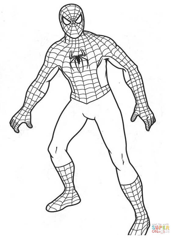 Spiderman clipart coloring sheet Coloring Free pages Pages Spiderman