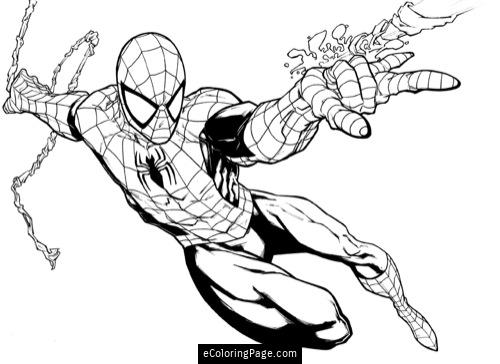 Spiderman clipart coloring sheet Pages Coloring Coloring Spiderman eColoringPage