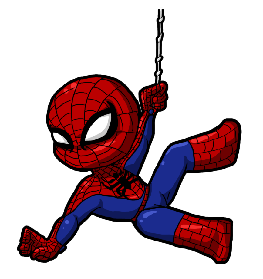 Spiderman clipart deviantart Hanging by out Spiderman hanging