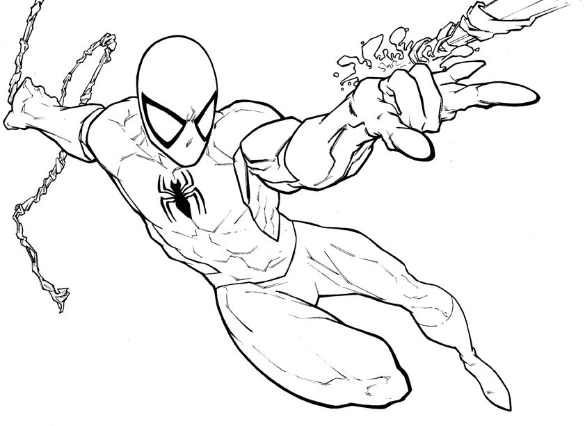Drawn spider-man coloring book #6