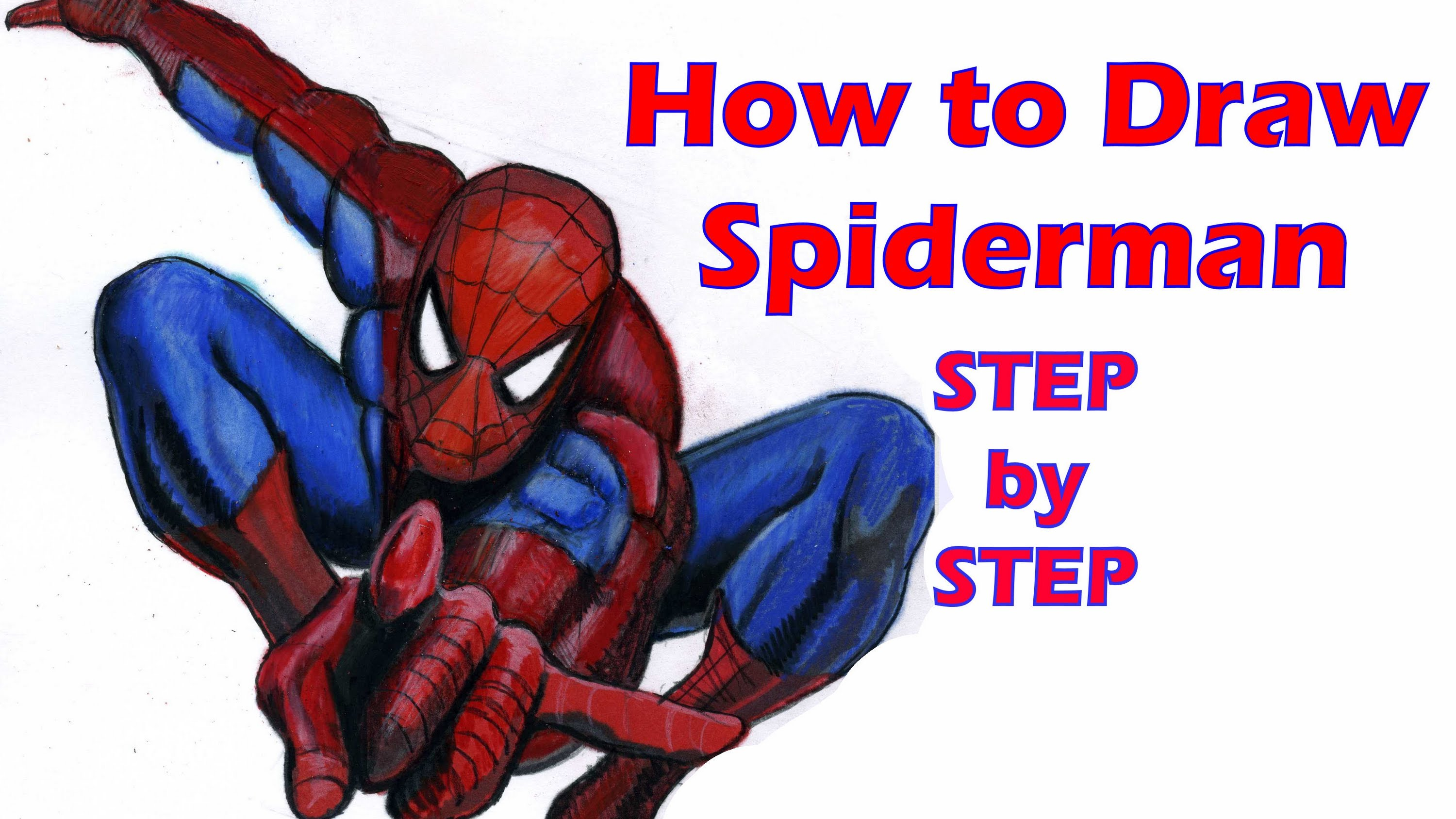 Drawn spiderman step by step  Download to Clip Spiderman