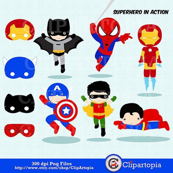 Superman clipart cute Superhero Art Pinterest Superhero 25+