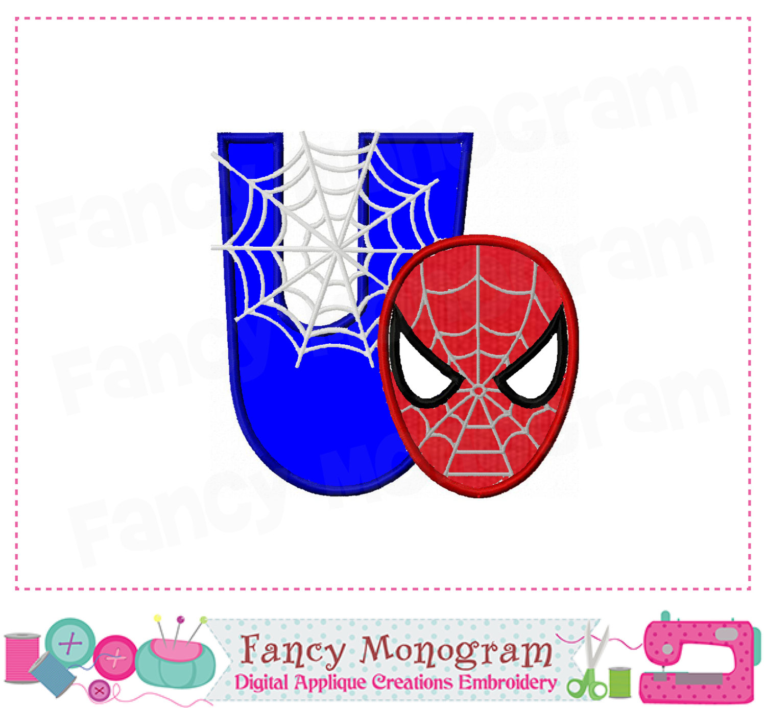 Spiderman clipart letter Applique file U Letter a