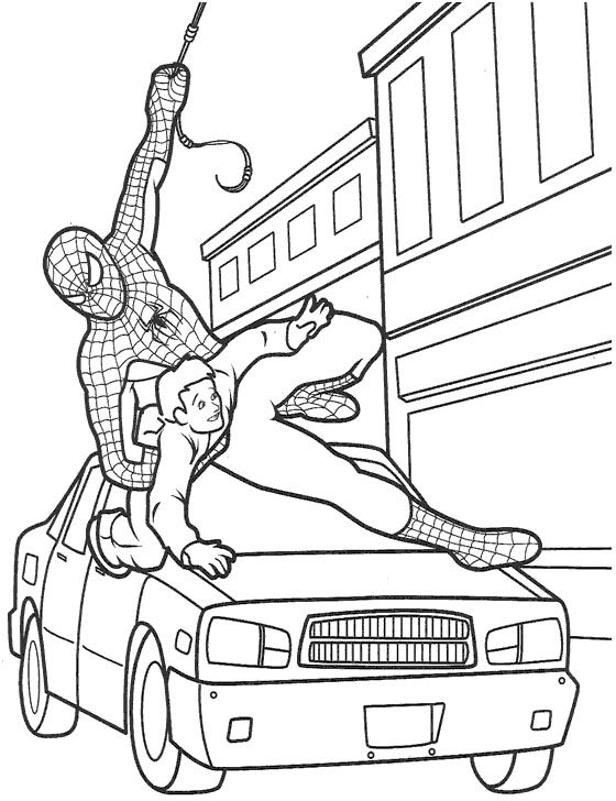 Spiderman clipart little boy Save Spiderman Kids The Coloring