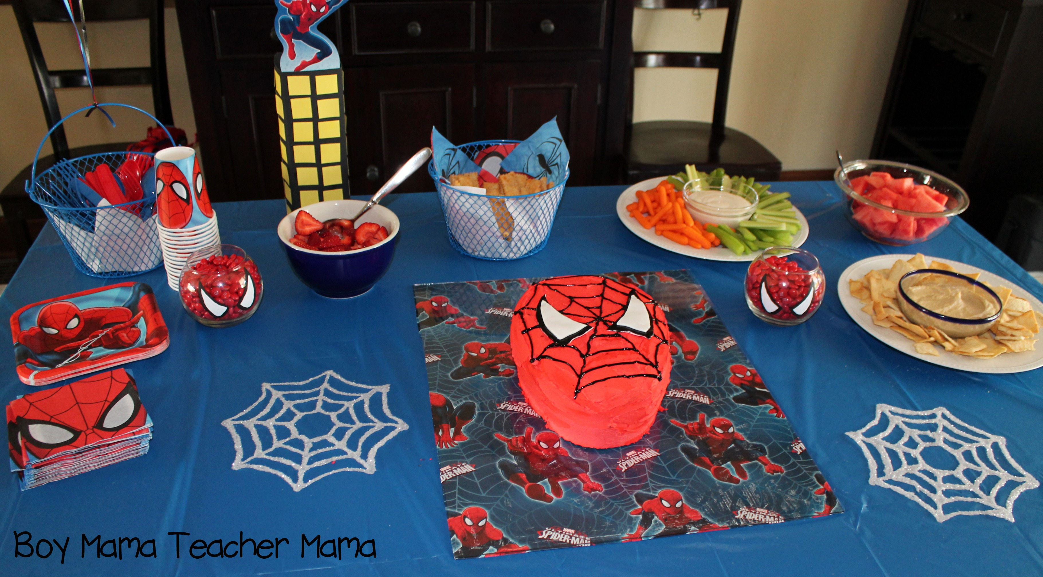 Spiderman clipart little boy Mama Birthday jpg Party Boy