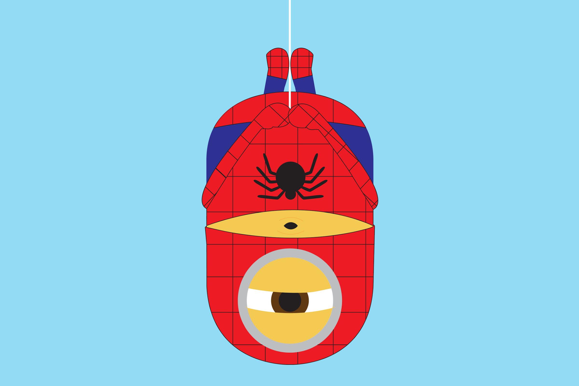 Spiderman clipart minion Minion Clip Art Art Spider