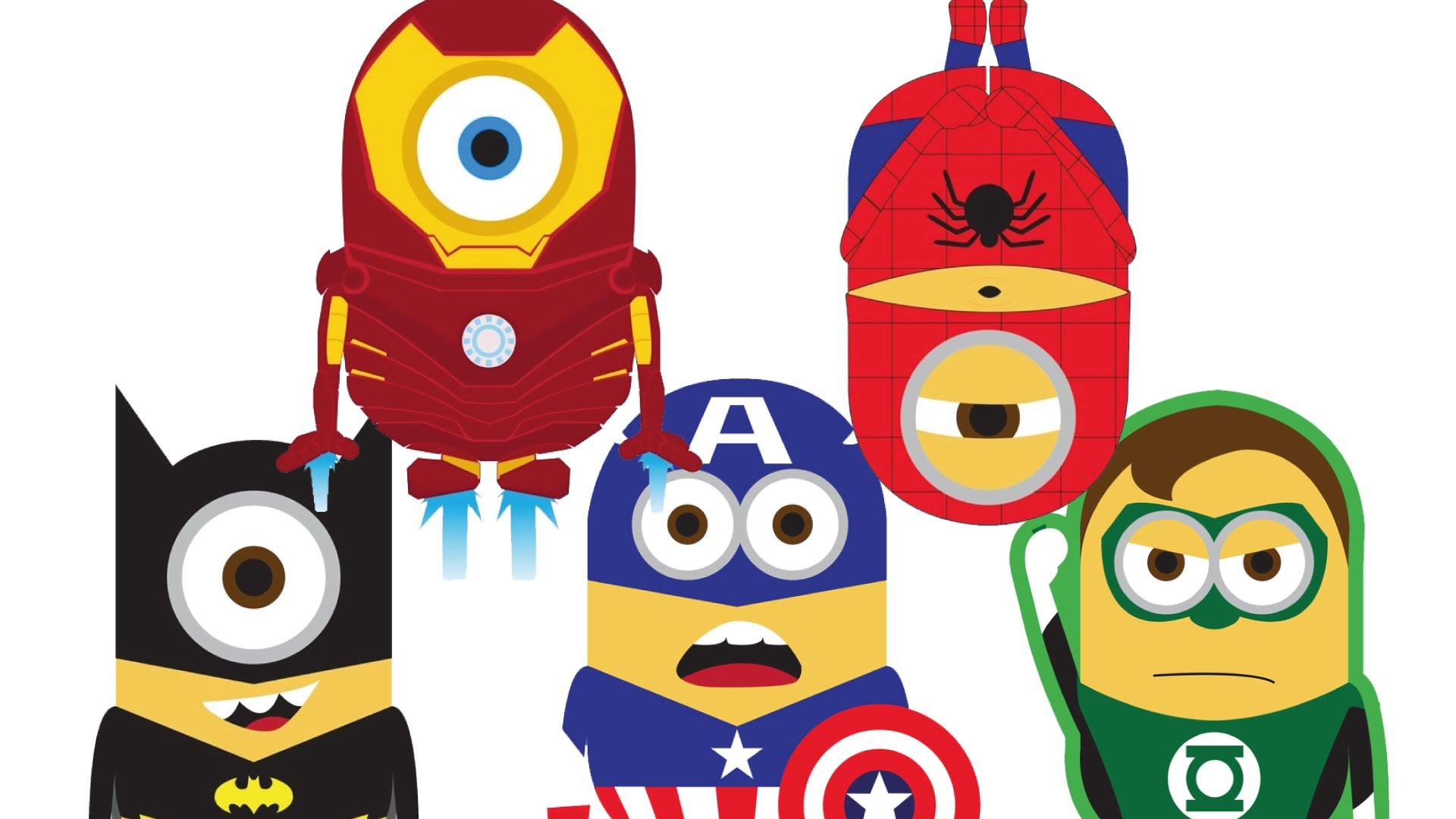 Superman clipart minion VS SpiderMan BatMan Muffin VS