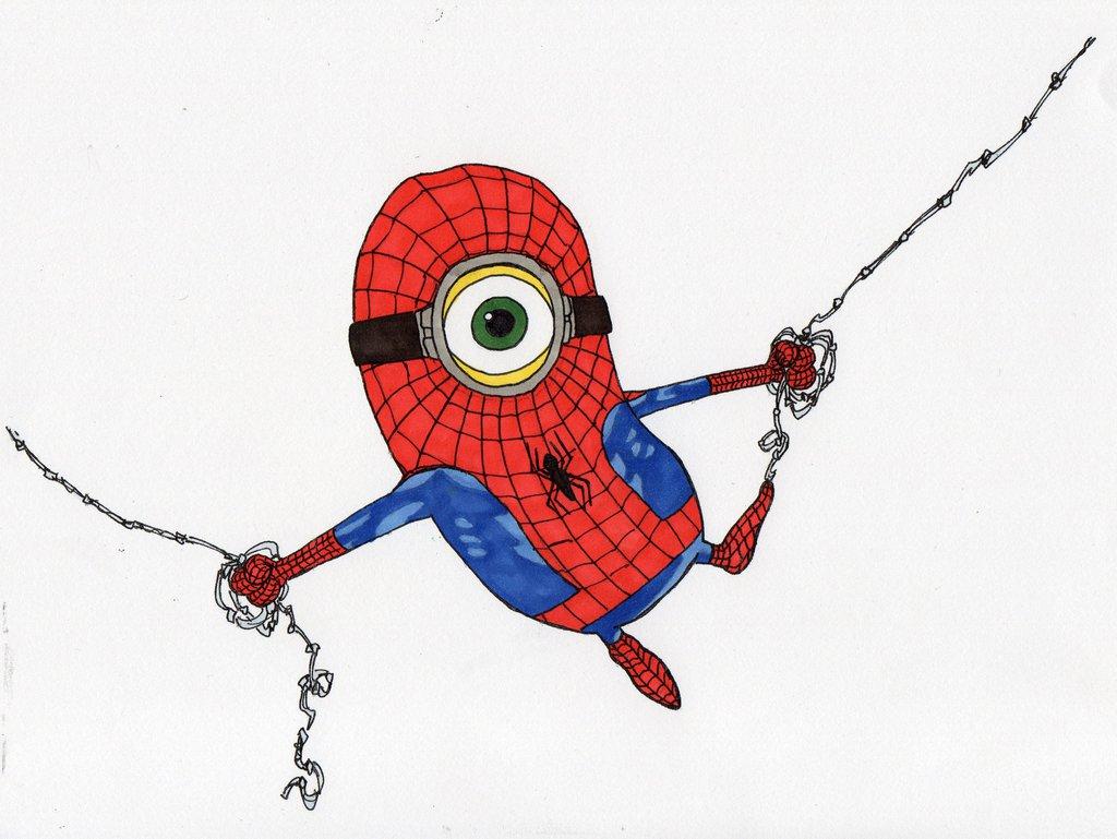 Spiderman clipart minion Spiderman Google Amigurumis Google minion