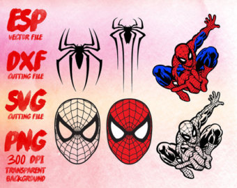 Spiderman clipart old school Man Etsy spider clipart Spiderman