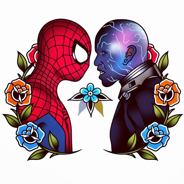 Spiderman clipart old school #superhero #tattooflash #tattoos #spiderman Flickr
