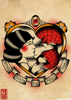 Spiderman clipart old school Old girl flash love