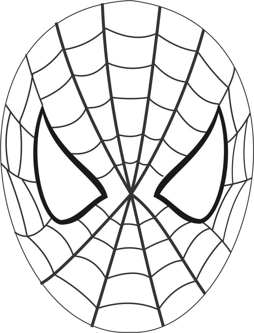 Drawn masks color Pages Spiderman kids: coloring Coloring