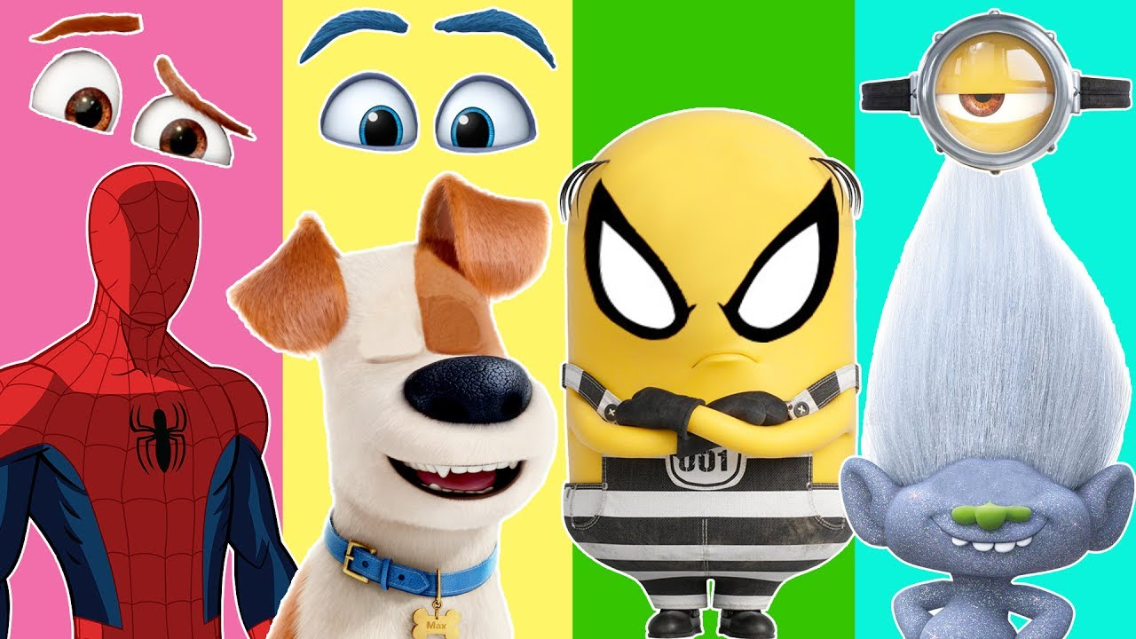 Spiderman clipart show me Of Minions Kids Funny Finger