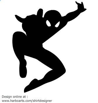 Spiderman clipart silhouette Siluetas Buscar and Pinterest more!
