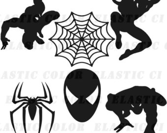 Spiderman clipart silhouette Files svg download man Spiderman