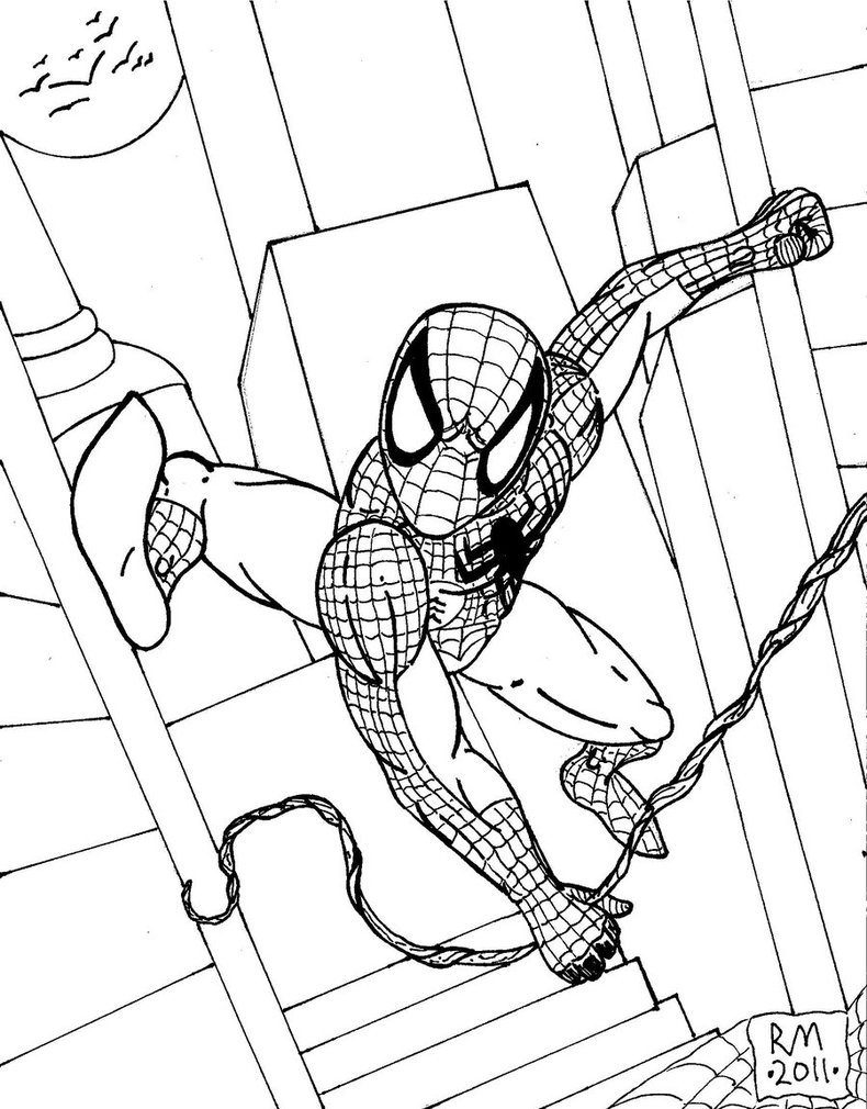 Spiderman clipart simple Outline Spiderman  Spiderman Spiderman