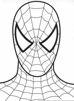 Spiderman clipart simple Superhelte and spiderman bags face