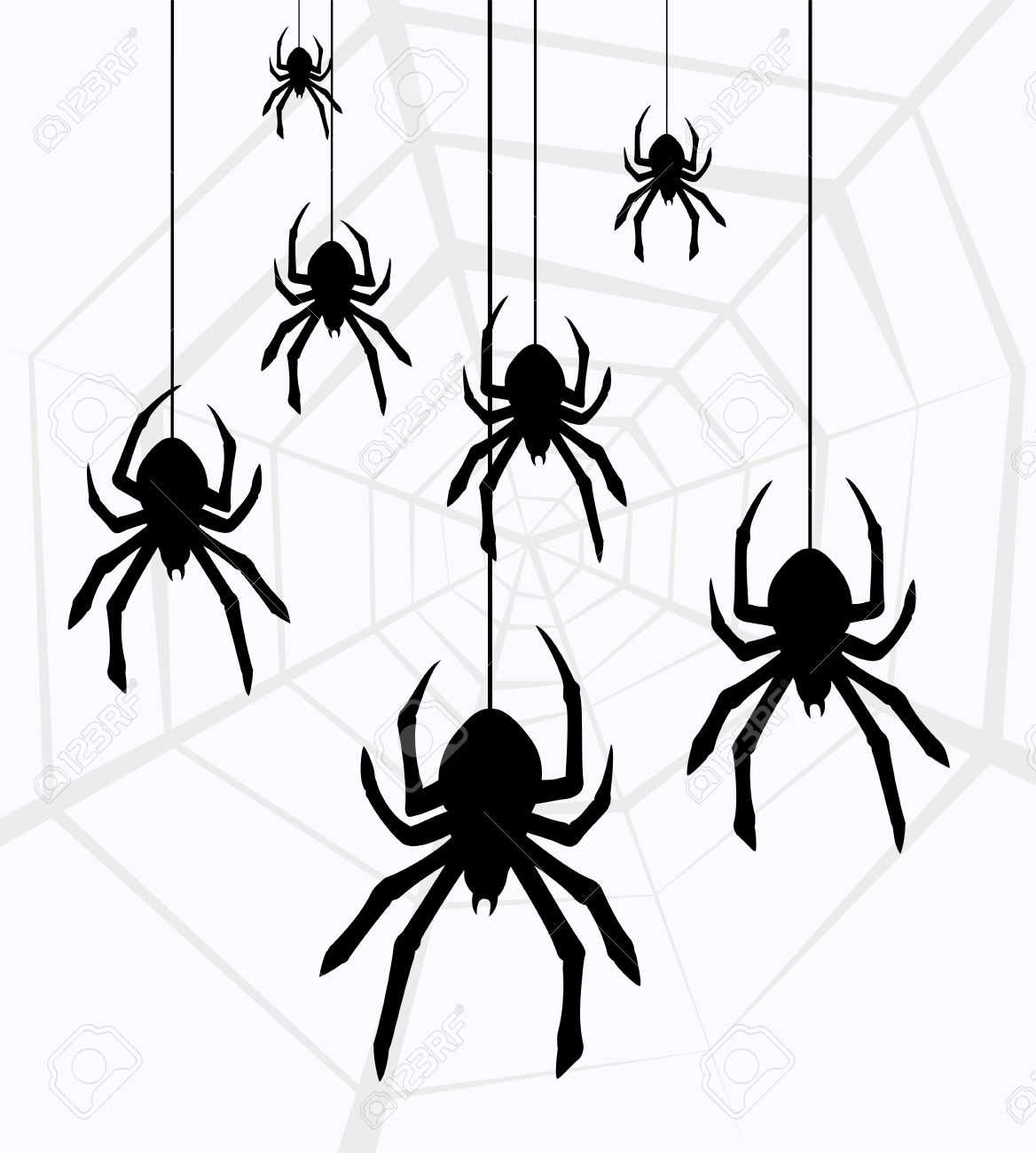 Spiderman clipart spider hanging White Spider pictures white clipart