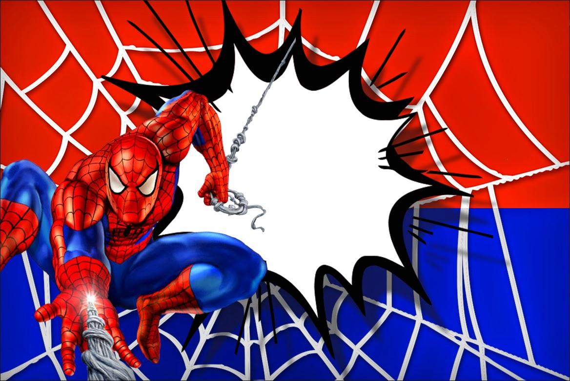 Spiderman clipart birthday invitation card Fiesta! english Printable My Spiderman: