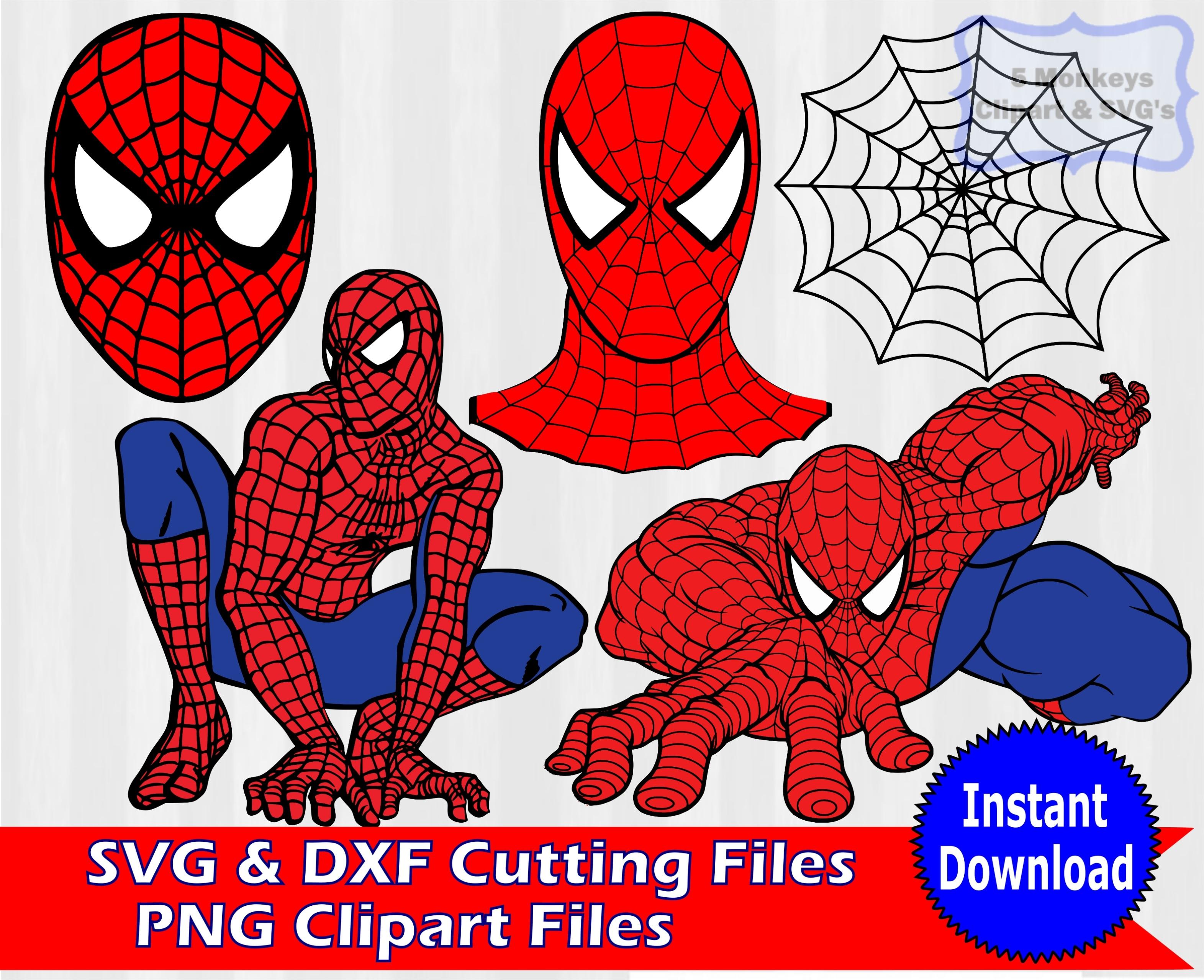 Spiderman clipart silhouette Spiderman spiderman svg Cliparting bundle