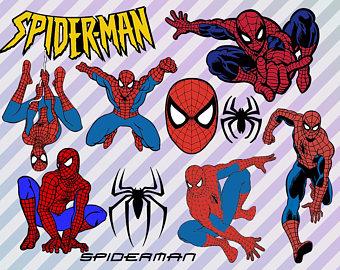 Spiderman clipart svgz PNG Superhero Marvel Spiderman Svg