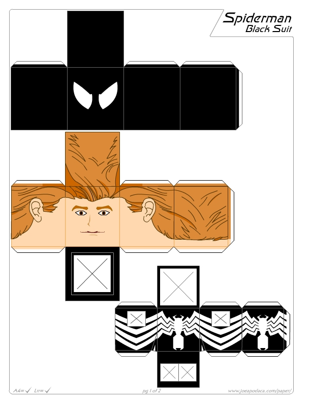 Spiderman clipart template Suit) Search 137KB 612x792 (black