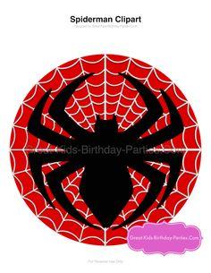 Spiderman clipart template Superhero printable Spiderman Cake Free