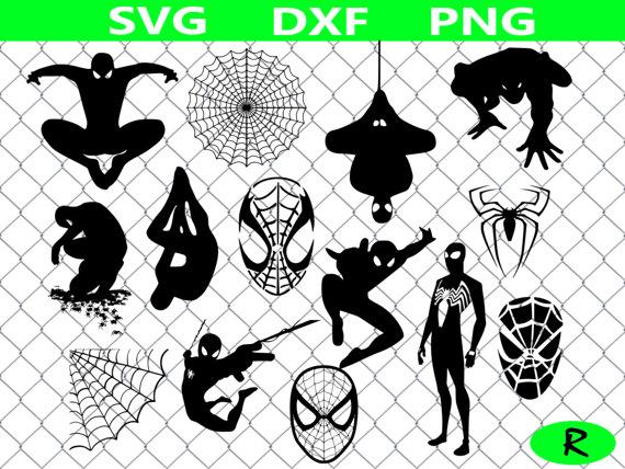 Spiderman clipart template Clipart cutting files vinyl Spiderman