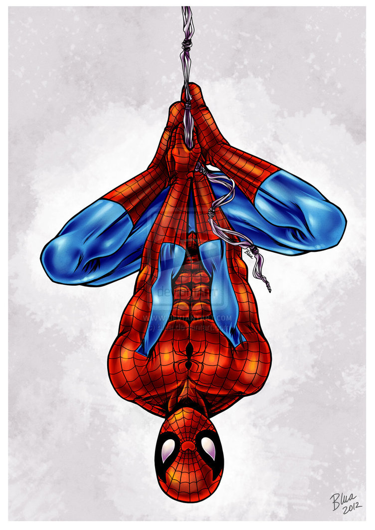Drawn spiderman upside down To Visit an an down