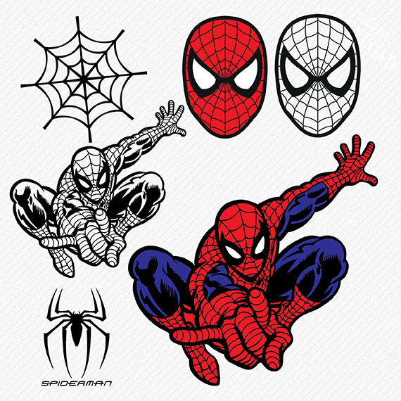 Spiderman clipart vector This digital is  Clipart