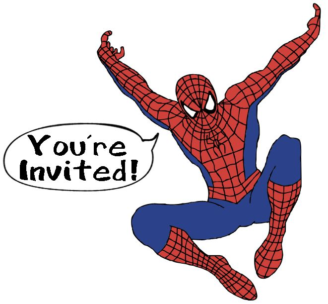 Spiderman clipart vector Spiderman wording images Party party