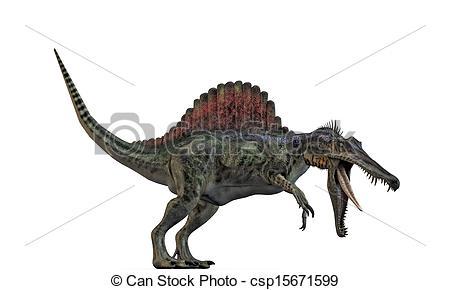 Spinosaurus clipart Of spinosaurus Stock white Illustration