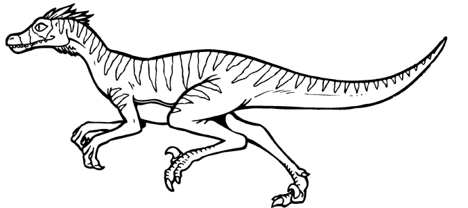 Velociraptor clipart Pages Art 4 Free Clip
