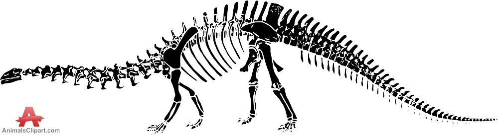 Brachiosaurus clipart blue dinosaur Skeleton Stencil Dinosaur Clipart Clipart