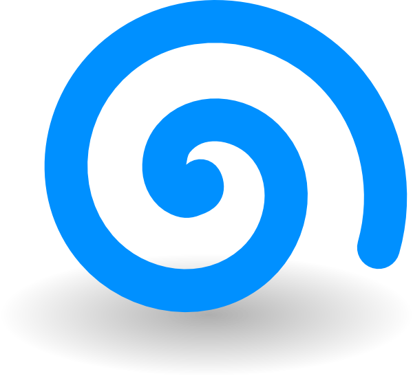 Spiral clipart blue Art Free Turquoise Clipart Art