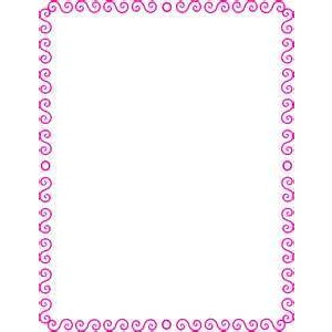 Spiral clipart border Image pink S wpclipart art
