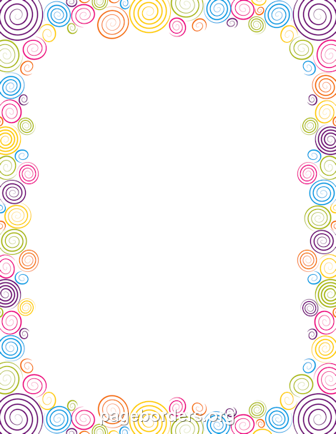 Spiral clipart border Border Printable for other other