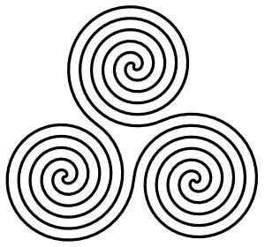 Spiral clipart twirl Celtic spiral symbol Triple on