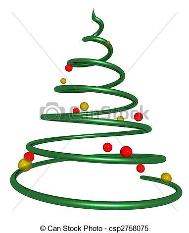 Spiral clipart christmas tree Twisted Illustration Illustrations a tree