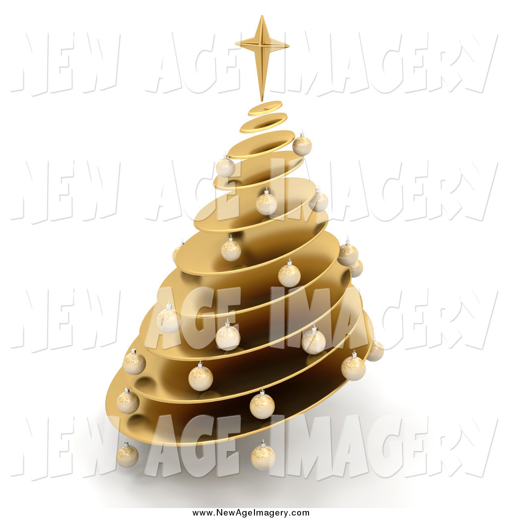 Spiral clipart christmas tree And Shading of Christmas a